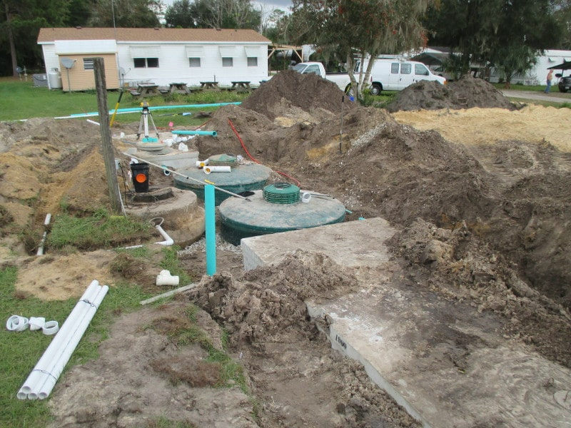 New septic install